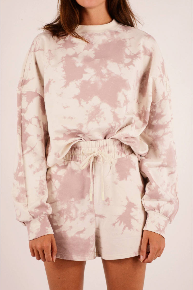 Sweat Erwin Varley taupe Tie and dye