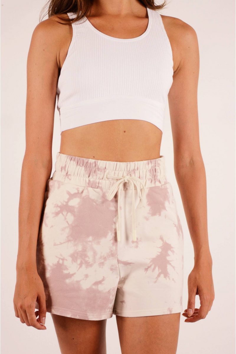Short Gade Varley taupe Tie and Dye