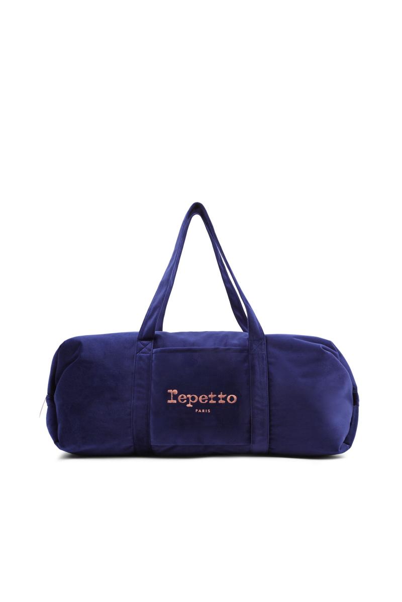 Repetto 'Big glide' navy velvet duffle bag