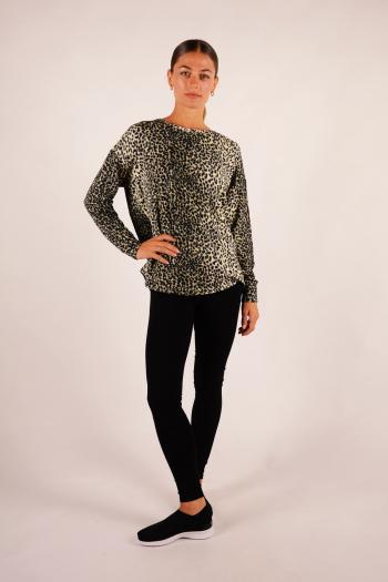 Sweatshirt Majestic Filatures Leopard