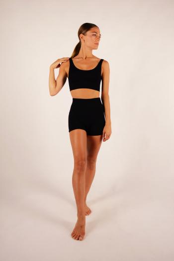 Ribbed shorts Capezio black 11379