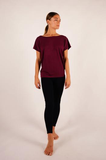 T-shirt Temps Danse Ava manches courtes bordeaux