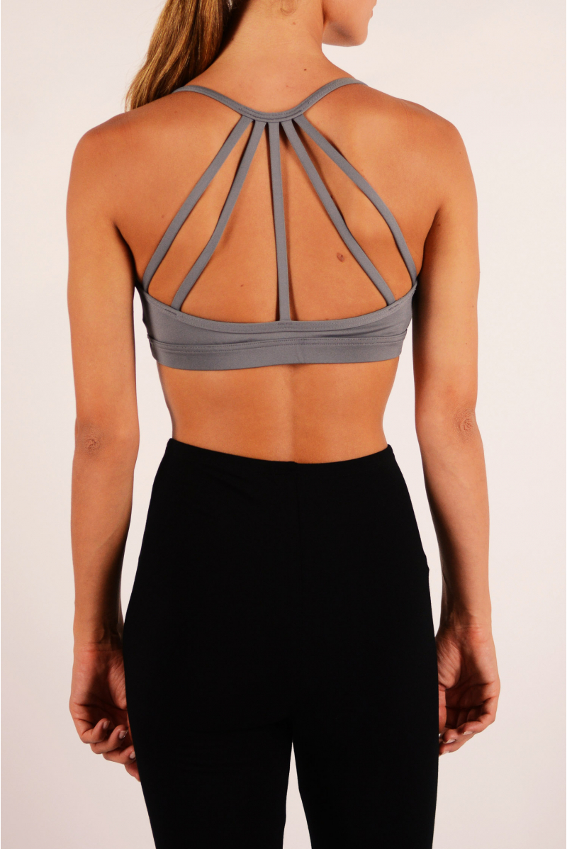Strappy bra top grey