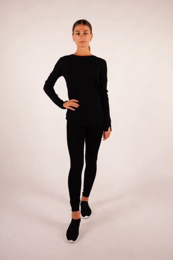 T-shirt round neck Majestic Filiatures black