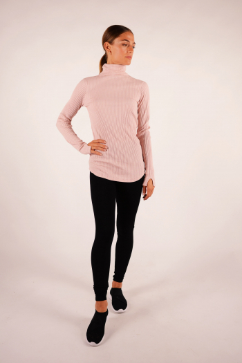 Majestic Filiatures turtleneck T-shirt pink
