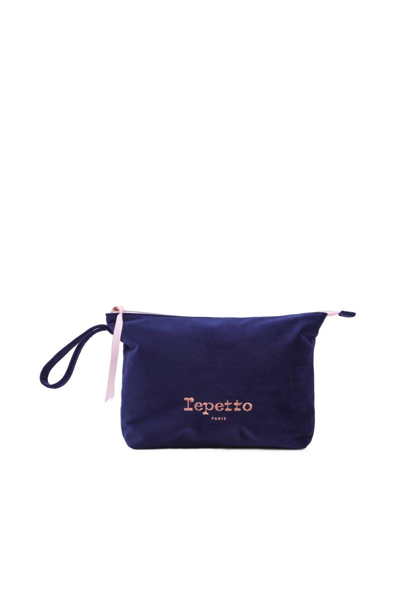 Repetto velvet midnight pouch