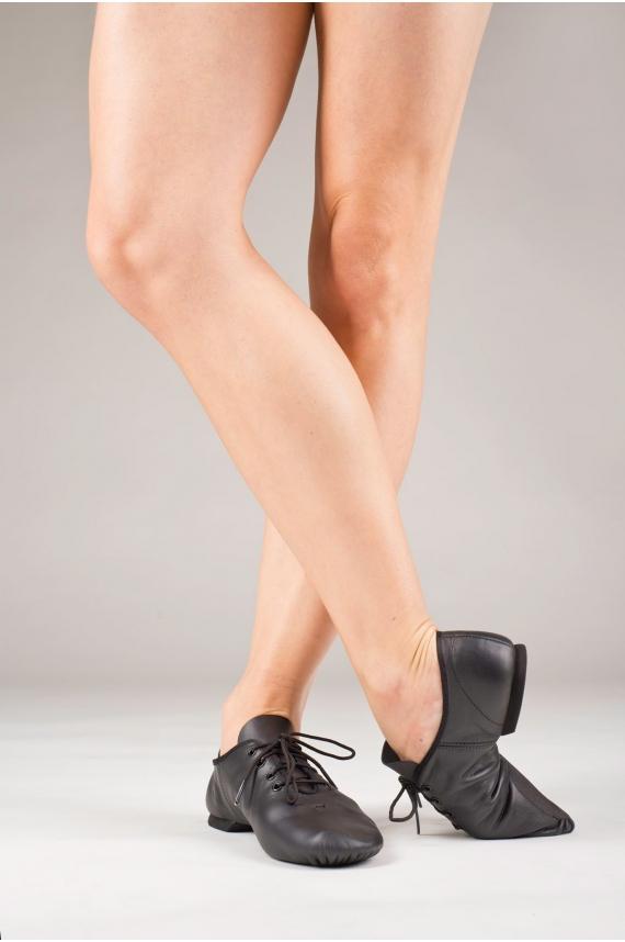 chaussons de jazz noir ej1 capezio cuir enfants mademoiselle danse. Black Bedroom Furniture Sets. Home Design Ideas
