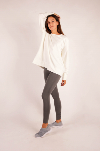 Long sleeve sweatshirt Majestic FilaturesMilk
