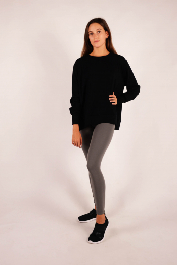 Long sleeve sweatshirt Majestic Filatures Black