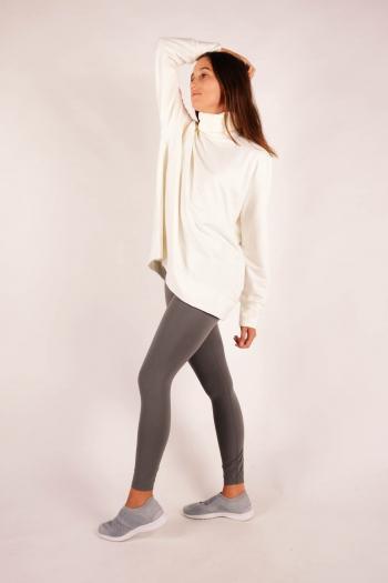 Majestic Filatures Milk turtleneck sweater