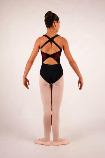 Justaucorps enfant Ballet Rosa noir/bordeaux collection royal