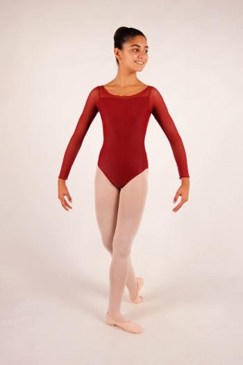Justaucorps enfant eleonora ballet rosa bordeaux