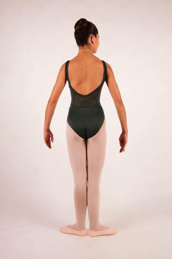 Leotard Ballet Rosa Inaya olive for child