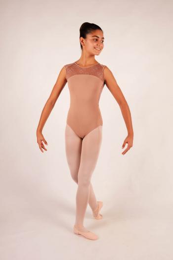 Ballet Rosa café au lait lace child leotard