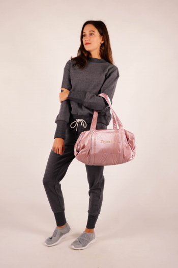 Repetto B0232NB silver pink duffle bag