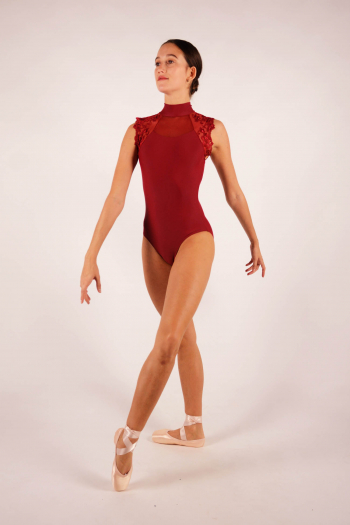 Justaucorps Berenice Ballet Rosa bordeaux