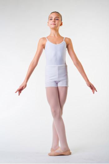 Short danse ballet rosa blanc