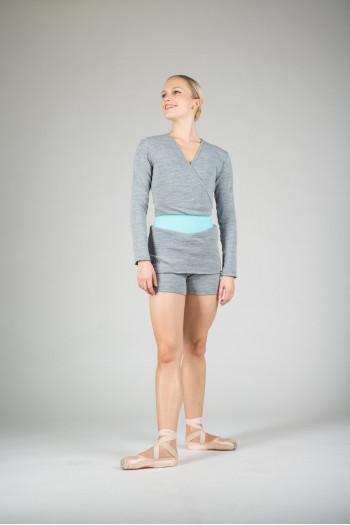 Grey Carmen Wear Moi wrap over top