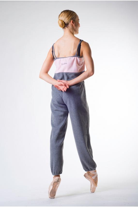 combinaison femme sansha gaby gris rose mademoiselle danse. Black Bedroom Furniture Sets. Home Design Ideas
