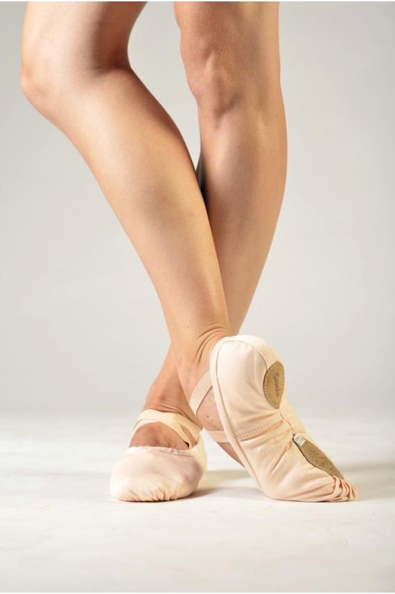 sansha soft light pink ballet shoes pro 1c mademoiselle