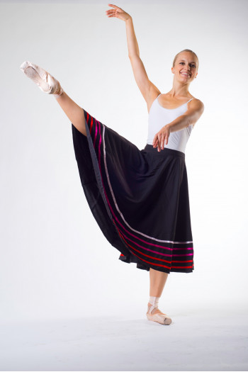 Jupe danse de caractere sansha rose