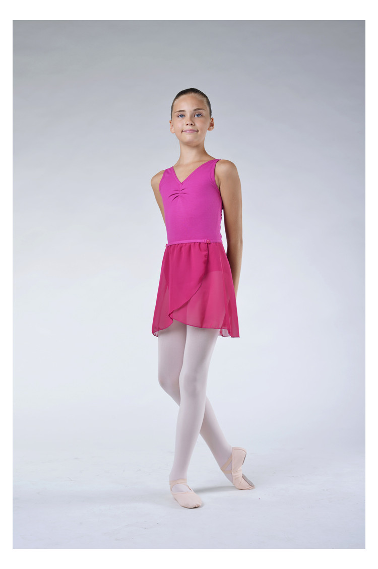 Capezio mulberry Chiffon wrap skirt