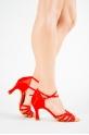 Sansha Alaia red latin dance shoes