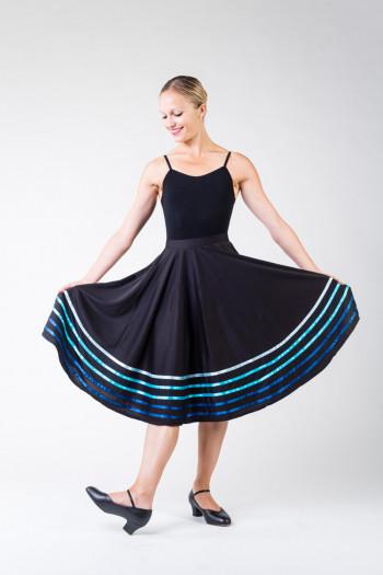 Jupe danse caractere Sansha noir
