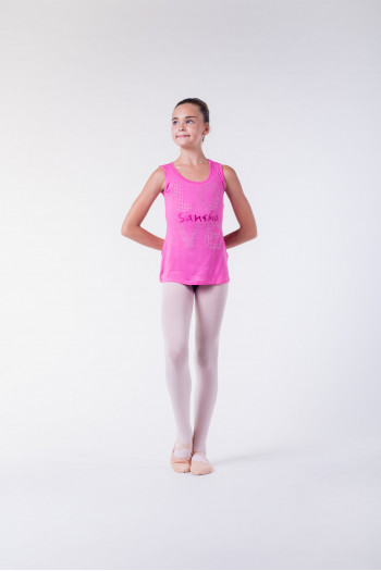 T shirt danse sansha enfant rose