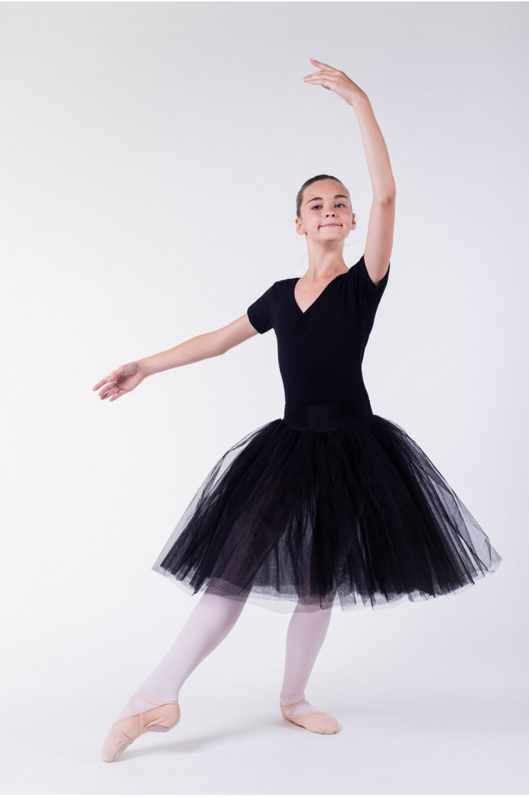 tutu long enfant mda noir mademoiselle danse. Black Bedroom Furniture Sets. Home Design Ideas