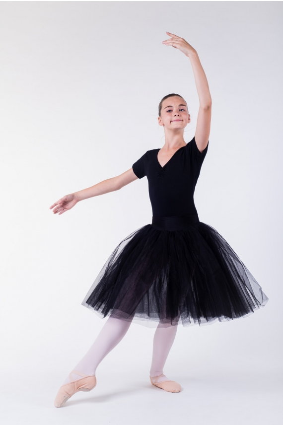 tutu long enfant danse mda noir mademoiselle danse. Black Bedroom Furniture Sets. Home Design Ideas