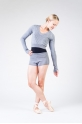 Short Bloch R6504B grey marle