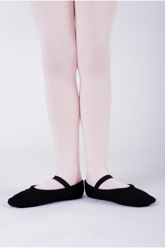 Sansha Black Canvas Ballet Shoes