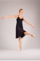MDA black women dress leotard close front