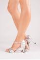 Capezio BR11 silver salsa shoes