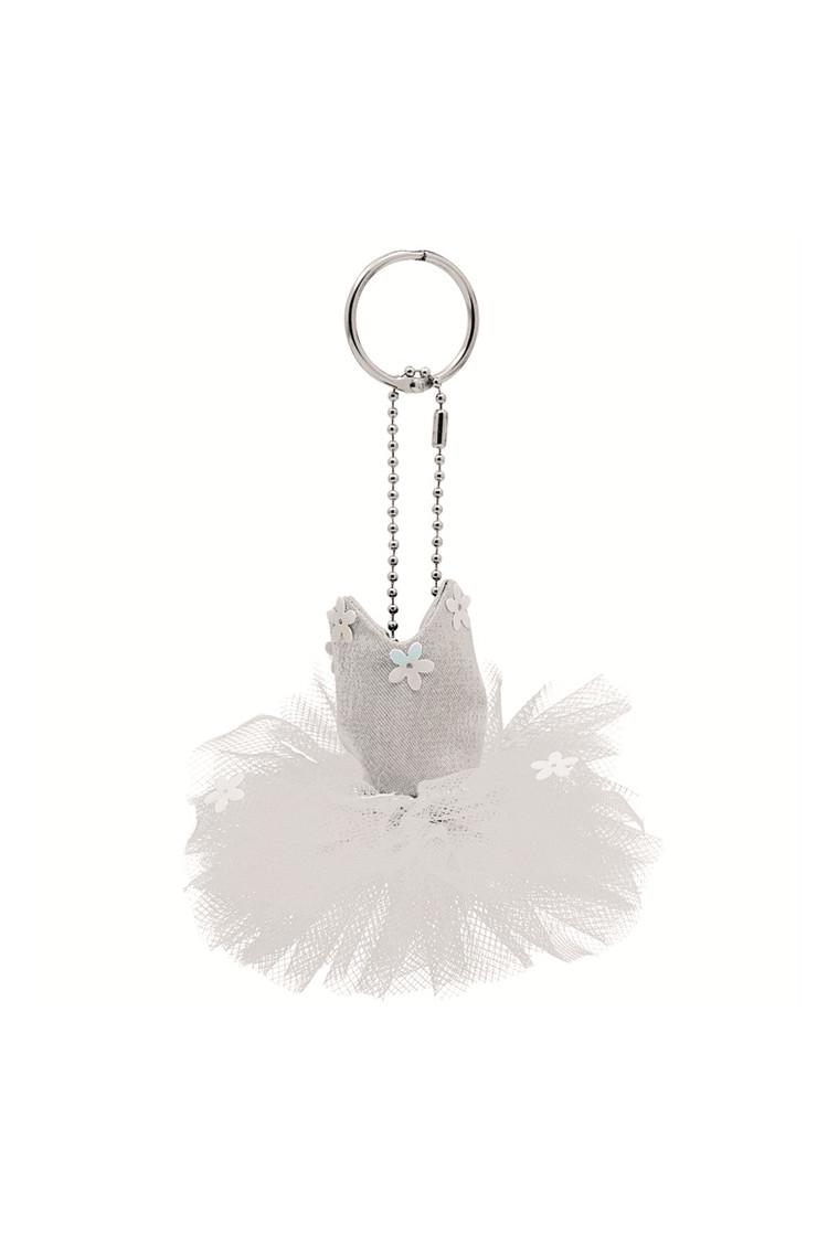 White tutu key ring