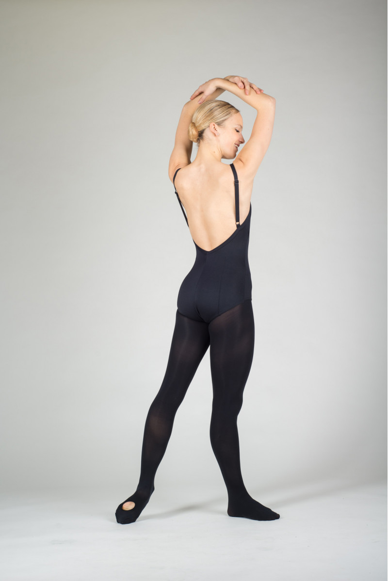 Capezio black convertible tights for women