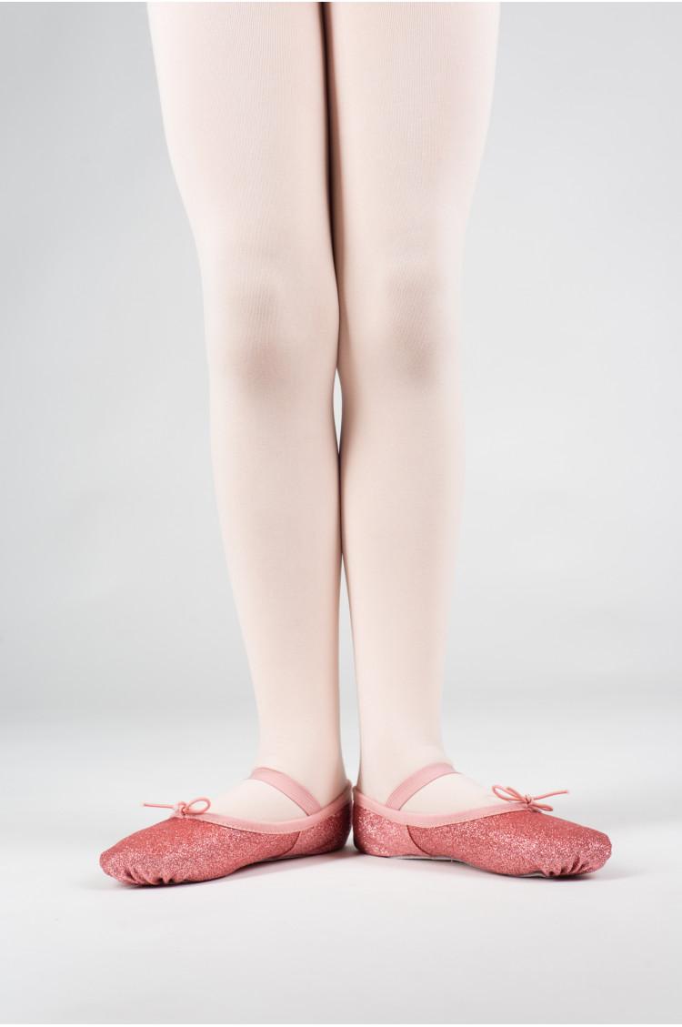 Bloch pink glitterdust ballet slipper