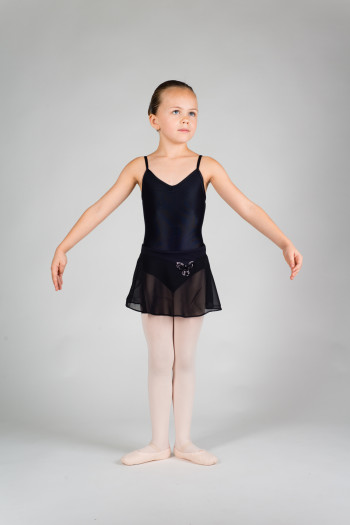 Mirella MS84C sequin black dance skirt