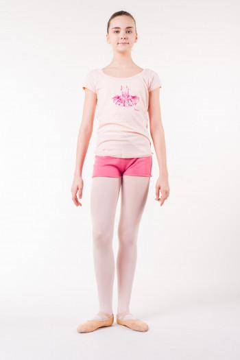 T shirt repetto enfant rose
