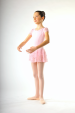 Capezio pink Sequined puff sleeve dress