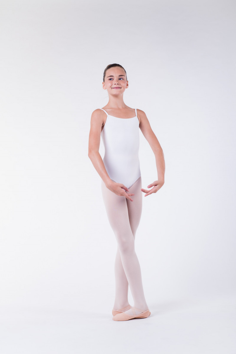Wear Moi Diane white ballet leotard