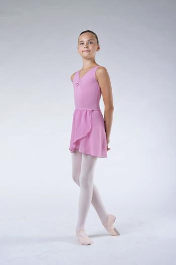 Capezio dusty pink Chiffon wrap skirt