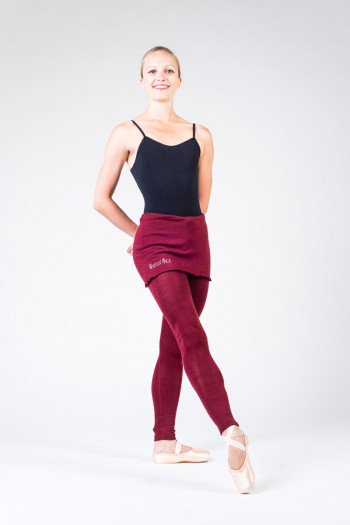 Wear Moi Crysalide maroon warm tights