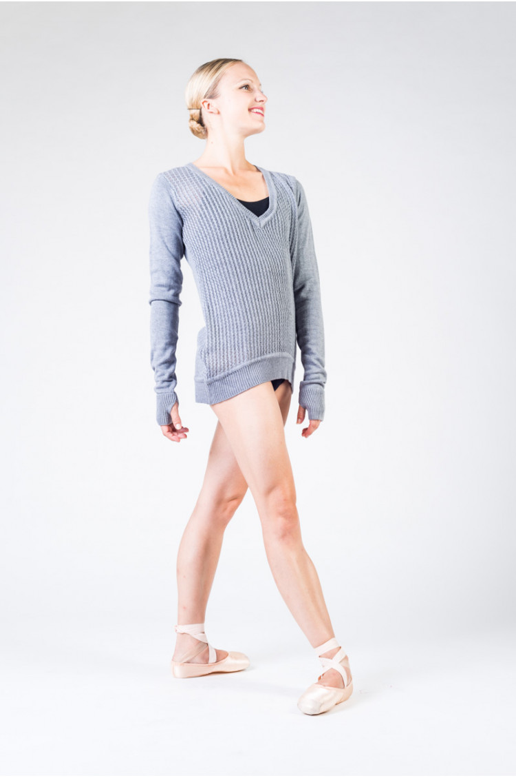 Pull long Bloch Z6529B grey marle