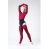 Wear Moi maroon knitted full leg warmers