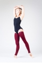 Wear Moi maroon knitted full leg warmers
