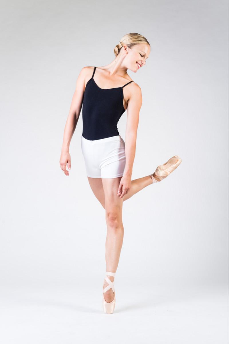 Short danse temps danse blanc
