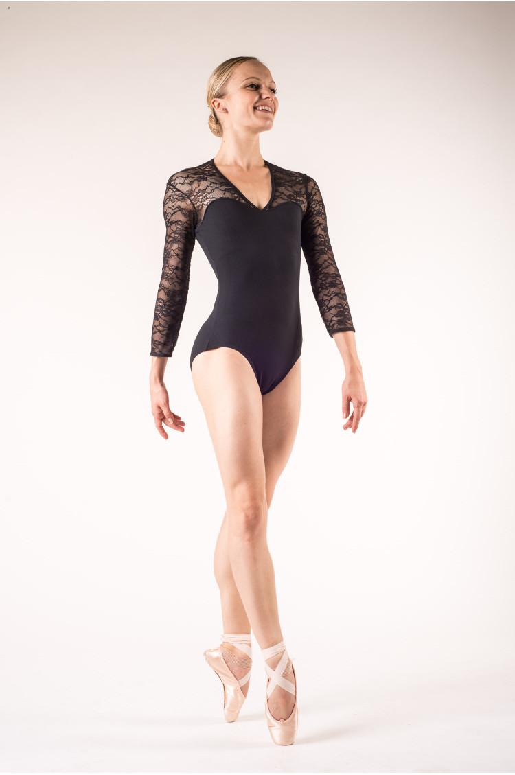 Body danse bloch dentelle noir