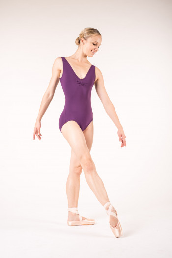 Capezio TC0002 tactel aubergine leotard